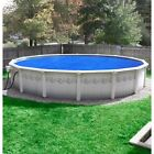 Pool Mate Deluxe 5 year Blue Silver Polypropylene Above Ground Swimming Pool
