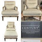 2 Feather Down Armchairs and 1 matching Ottoman by Century Furniture