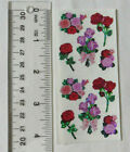 Sandylion RED  PINK ROSE BOUQUETS Strip of VINTAGE Stickers RETIRED VERY RARE