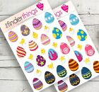 Easter Egg Stickers Scrapbook Planner Crafts Diary Easter Chicks Eggs Precut