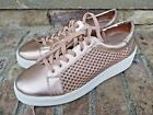 Steven by Steve Madden Womens Nyssa Lace Up Sneaker Shoes Size 8 Rose Gold Blush