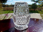 ViNTaGe Crystal Clear Indiana ArT GLaSs Footed Fairy Candle Holder Light Lamp