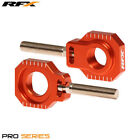 For KTM EXC 125 2T Sixdays 2013 RFX Pro Orange Rear Wheel Axle Adjuster Blocks