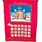 Vintage Handmade Advent Countdown Calendar The First Christmas Nativity Scene