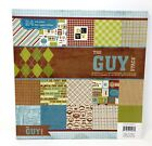 DCWV The Guy Stack 46 sheets of 12 x 12 printed paper scrapbook texture