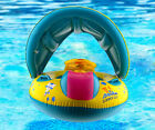 Baby Kids Safety Swimming Pool Float Seat Boat with Sunshade Canopy Children Toy