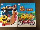 2 Vintage PAC-MAN video game ACTIVITY BOOK Bally Midway 1982 Promo COLORING