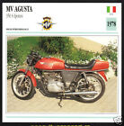 1978 MV Agusta 350cc S Ipotesi (340cc) Italy Motorcycle Photo Spec Info Card