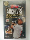 2018 TOPPS ARCHIVES SIGNATURE RETIRED PLAYER FACTORY SEALED HOBBY BOX