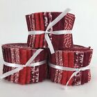 Assorted Red  White Jelly Roll 20 25 Strip 100 Cotton