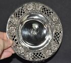 Raised Floral STERLING Silver Small Bowl Dish