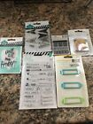 Scrapbooking Stickers stamps Lot Words Stencils Stickers Frames Borders