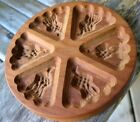 Farmhouse Vintage Wood Hand Carved Scotland? Thistle Cookie Mold Springerle