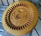 Farmhouse Vintage Wood Hand Carved Scotland Thistle Cookie Mold Springerle