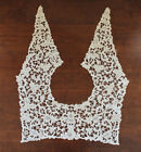 Antique Victorian Off White Needlepoint Floral Lace Collar