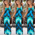 US Womens Maxi Boho Slim Summer Beach Dress Long Evening Party Dress Sundress