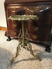 Vintage Ornate Brass Table ~ 3 Leg Claw Feet Table smoke plant stand