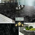 Black Marble Granite Contact Paper Countertop Vinyl Self Adhesive Film 26 x 78
