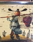 Peter Ompir Folk Art Painted Antique Wood  Box - His Famous Strawberry Soldier