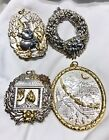Lot Of 4 Buccellati Sterling Silver Ornaments With Gold Wash
