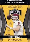 2018 Leaf Draft Football Factory Sealed 20 Pack Blaster Box-2 AUTOGRAPHS!