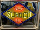 Old Sunoco Gas & Oil Sign with Neon 8 FT x 4 1/2 FT