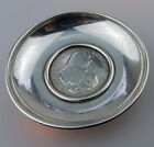 Antique Maltese Solid Silver a Dish with Scudo coin inlaid C.19thC