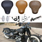 Motorbike Solo Driver Seat Classic Leather 6 Style For Harley Cross Bones Bobber