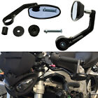 Naked Sport Motorcycles Black Oval Aluminum CNC 7/8