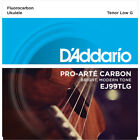 DAddario EJ99TLG Pro Arte Uke Carbon Tenor Low G Nylon Ukulele Strings Set