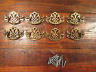 8 Vintage Brass Chippendale Style Drawer Pulls 2 1/2