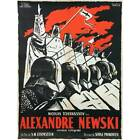 ALEXANDER NEVSKY Linen Movie Poster 23x32 in R1950 Sergei M Eisenstein