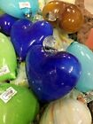 MEXICAN GLASSWARE ART GLASS HEART 3 Assorted H FREE FREIGHT