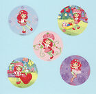 10 Strawberry Shortcake Glitter Large Stickers Party Favors