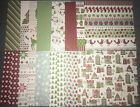 Stampin Up SNOW FESTIVAL Designer Series Paper DSP 6x6 24 sheets
