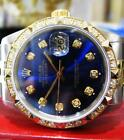Men's ROLEX Oyster Perpetual Datejust Diamonds Yellow Gold Stainless Steel Watch