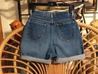 LEE SHORTS VINTAGE 80s DENIM JEAN CUT OFFS 28 WAIST PIN UP SEXY