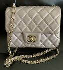 3200 Chanel quilted Lambskin Square Mini In Metallic Rose Gold Stunning