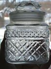 Anchor Hocking Wexford Vintage glass canister Apothecary jar plastic seal