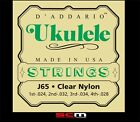 Daddario EJ65 Ukulele String Set Clear Nylon Regular 24 28 Uke Strings
