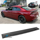 Fits 11-18 Dodge Charger Unpainted Matte Black PP Roof Spoiler Wing