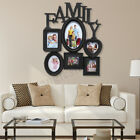 6 Multi Photo Picture Frame Family Friend Love Collage Holder Wall Mounted Decor