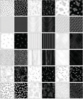 Metallic Mixers Silver Layered Fabric Cake 40 10 squares Cotton Quilting Fabr