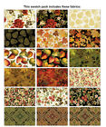 Harvest Gold 40 25 Jelly Roll Strip pies PRECUT Quilting Fabric MetallicGold