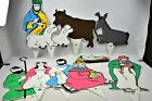 Vtg Christmas Nativity Scene Flat Stake in Ground Outdoor Figures Yard Art New