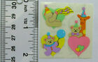 Sandylion BABY BEAR PARTY TIME 1 Square VINTAGE Stickers RETIRED SUPER RARE