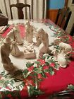Vintage Crown D Porcelain Christmas Nativity Set original Germany