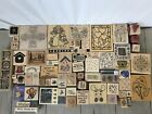 WOOD STAMP LOT 72 MISC WOOD STAMPS FLOWERS ALL OCCASIONS STAMPIN UP+