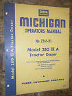 CLARK MICHIGAN MODEL 280 III A TRACTOR DOZER FACTORY OPERATOR'S MANUAL 2361-R1