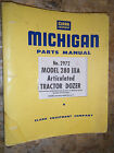 CLARK MICHIGAN 280 IIIA ARTICULATED TRACTOR DOZER FACTORY PARTS MANUAL 2972